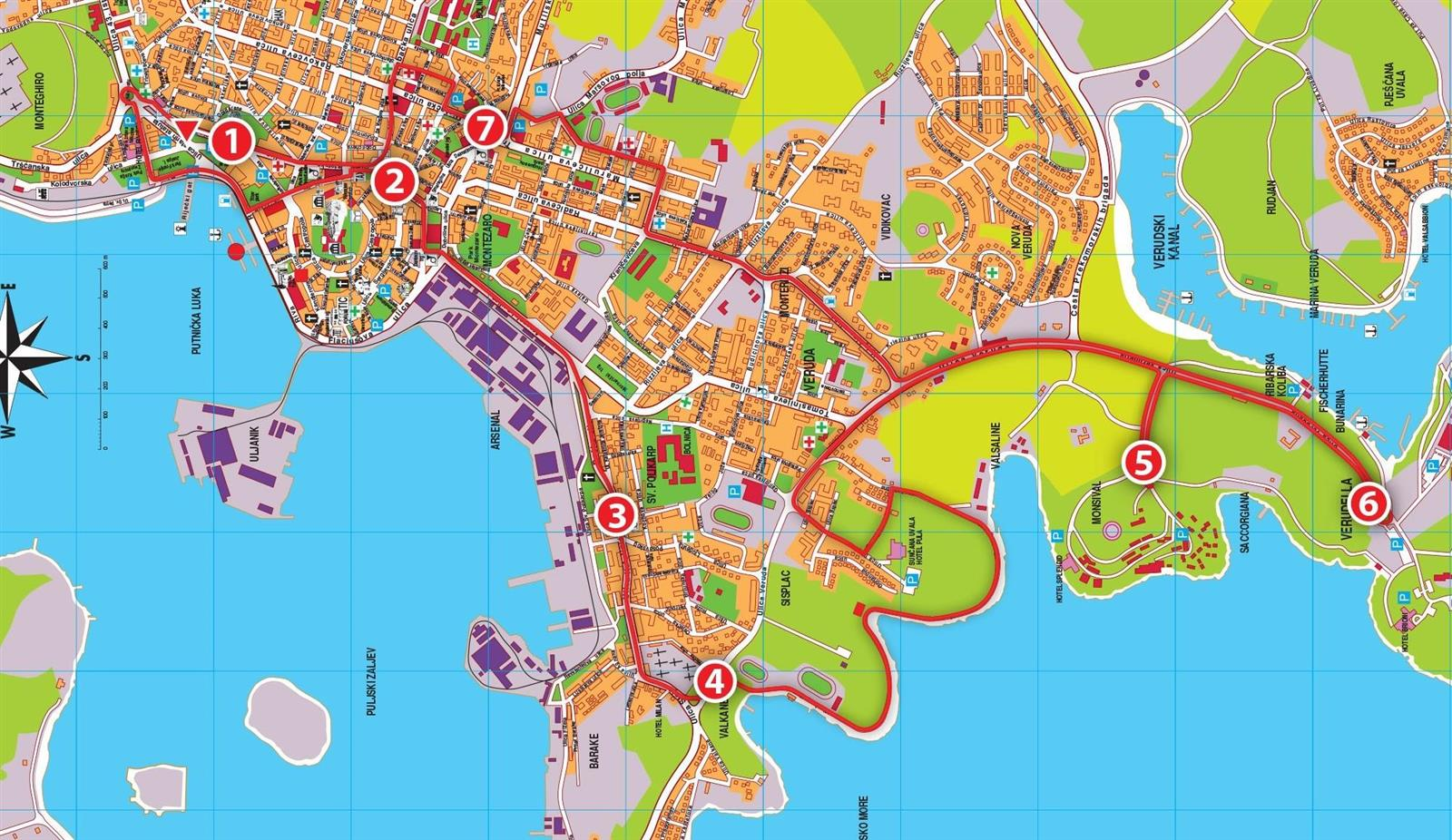 Karte Kroatien Pula.Pula City Tour Stadtrundfahrt Pula