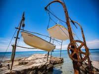 Savudrija - Hängende Boote