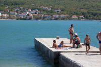 Bucht Soline - Strand Cizici - Betonierte Liegeflächen
