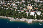 Luftaufnahme Strand Lanterna, Dramalj