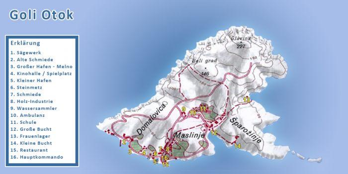 Karte - Goli Otok