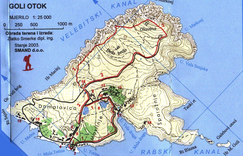 Jugoslawien Karte Früher.Insel Goli Otok Kroatien Reiseführer Kroati De