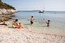 Familie am Strand, Insel Losinj