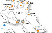 Krk - Karte Insel Krk