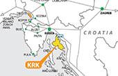 Krk - Karte Lage Kvarner Bucht