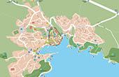 Krk - Karte Stadtplan
