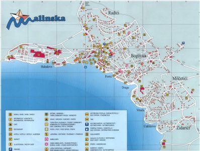 Malinska - Stadtplan