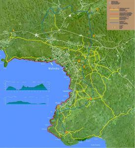 Malinska - Karte Wanderwege