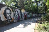 Grafiti Wand im Park Angolina (Opatija)