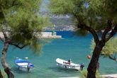 Boote am Strand von Silo