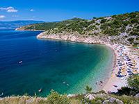 Potovosce Strand bei Vrbnik