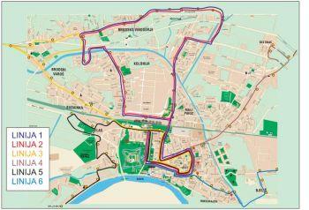 Slavonski Brod - Stadtplan