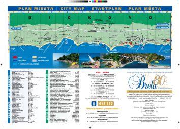 Brela - Karte Riviera