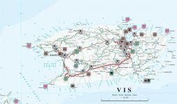 Karte Sehenswürdigkeiten Insel Vis