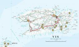 Karte Insel Vis