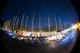 Segelboote im Hafen von Komiza