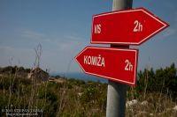 Wandern Insel Vis