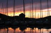 Boote, Abenddämmerung - Marina