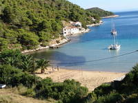 Strand Bucht Stoncica bei Vis