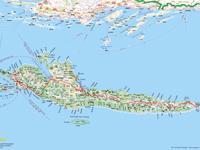 Insel Hvar - Übersichtskarte