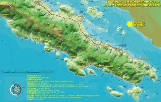 Karte von der Insel Pasman
