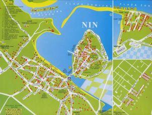 Stadtplan von Nin