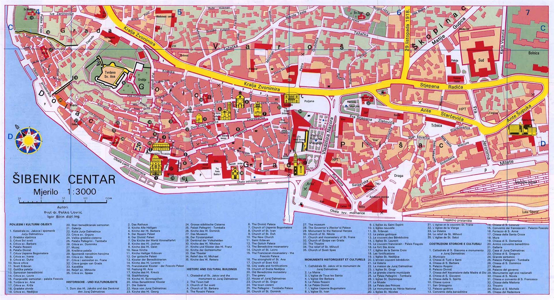 Plan Ville Saint Die