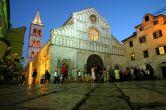 Zadar - Nachtaufnahme Kathedrale Anastasia