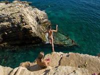 Klippenspringen, Kroatien