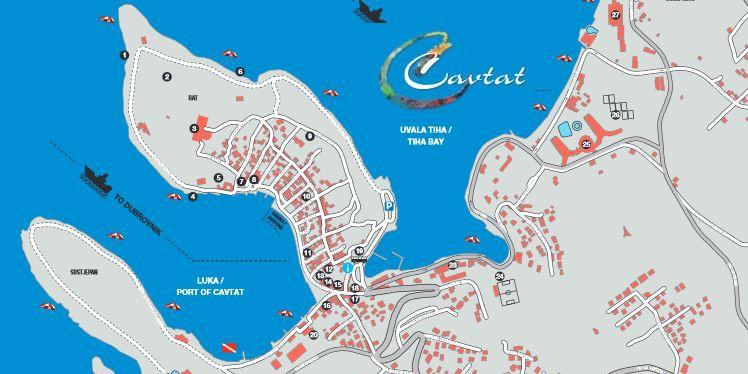 Übersichtskarte von Cavtat
