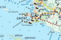 Touristische Karte von Cavtat und der Umgebung Konavle