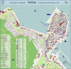 Korcula Stadtplan