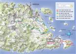 Lumbarda Karte Wanderwege