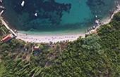 Luftaufnahme Strand Smokvjenac, Plat
