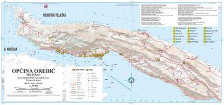 Orebic - Karte Halbinsel Peljesak