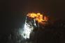 Nachtaufnahme Burg im Winter