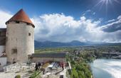 Bleder Burg - Untere Terrasse