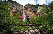 Wandern Wasserfall Rinka