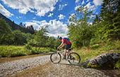 Mountainbike Logar Tal Landschaftspark
