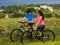 Landschaftspark Strunjan - Fahrrad fahren