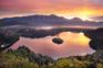 Sonnenaufgang Bleder See