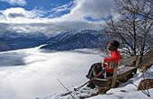 Ausblick See Bohinj, Winter