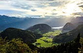 Panoramablick oberes Bohinj Tal & See