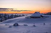 Velika Planina Sonnenuntergang