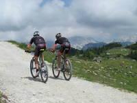Mountainbike fahren Velika planina