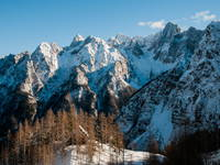 Ausblick Martuljek Berge