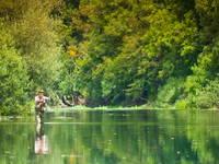 Fliegenfischen - Fluss Unica