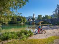 Radfahren Bohinj, Slowenien