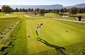 Abschlag Golfplatz Bled