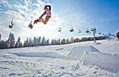 Snowboarder Skigebiet Kope